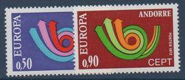 AND 1973  Série Europa   N°YT 226-227   ** MNH - Andorra Francesa