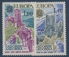 AND 1977  Série Europa   N°YT 261-262   ** MNH - Andorra Francesa