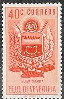 Venezuela  1954   Sc#622   40c  Nueva Esparta  MH  2016 Scott Value $7.25 - Venezuela