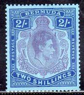BERMUDA 1938 1951 KING GEORGE VI RE GIORGIO KGVI SHILLING 2sh MNH - Bermudes
