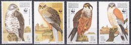 Tr_ Malta 1991 - Mi.Nr. 864 - 867 - Postfrisch MNH - Tiere Animals Vögel Birds WWF - Adler & Greifvögel