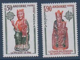 AND 1974  Série Europa   N°YT 237-238   ** MNH - Andorra Francesa