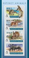 Salomon 2015, Extinct Animals, Rhino, Horse, 4val In BF - Rinocerontes