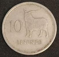 LESOTHO - 10 LISENTE 1979 - KM 19 - Moshoeshoe II - Lesotho