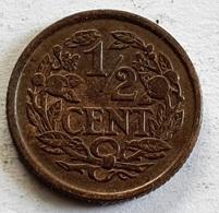 Netherlands ½ Cent 1936 - [ 3] 1815-… : Royaume Des Pays-Bas