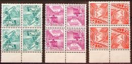Schweiz Suisse 1937: Kehrdruck Tête-bêche  Zu+Mi K32z-K34Az Geriffelt Grillé ** MNH (Zu CHF 115.00) - Tete Beche