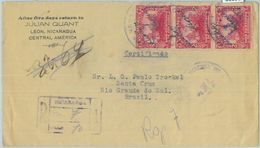 86090 - NICARAGUA - POSTAL HISTORY - REGISTERED COVER To BRAZIL 1934 - Nicaragua