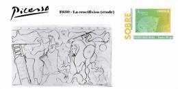 Spain 2013 - Picasso Collection Prepaid Cover - 1930 - La Crucifixion (etude) - Enteros Postales