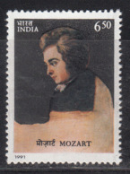 India MNH 1991, Mozart, Music Composer, Famous People, Art Painting By Joseph Lange, Austria Born - Inde