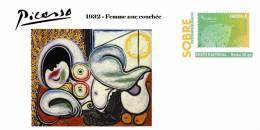 Spain 2013 - Picasso Collection Prepaid Cover - 1932 - Femme Nue Couchée - Enteros Postales