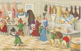 CPSM 50-60              CHATS . HUMANISES  Chez Le Boucher - Chats