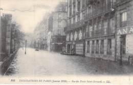 75 - PARIS 05° - INONDATIONS De PARIS ( Janvier 1910 ) Rue Des Fossés Saint Bernard - CPA - Seine - De Overstroming Van 1910