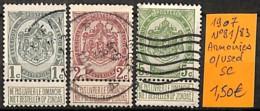 D - [830588]TB//O/Used-Belgique 1907 - N° 81/83, Série Complète, Armoiries - 1893-1907 Coat Of Arms