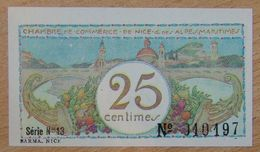 NICE (06)  25 Centimes  Chambre De Commerce  ND Série N°13 - Chamber Of Commerce