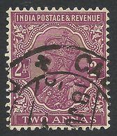 India, 2 A. 1926, Sc # 126, Used. - India (...-1947)