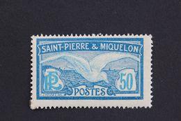1922,ST-PIERRE-ET-MIQUELON Y&T NO 114, 50C  GOËLAND BLEU ET BLEU-CLAIR  NEUF MH** - St.Pedro Y Miquelon