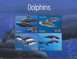 Tuvalu, N° 1671 à 1673 + Bloc 196 (Baleine Pilote, Dauphin De Risso, ...), Neufs ** - Tuvalu