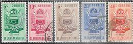 Venezuela   1952   Sc#618-22  Nueva Esparta Used  2016 Scott Value $3.75 - Venezuela