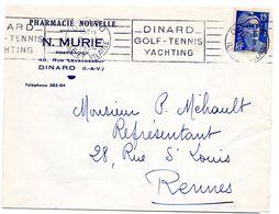 ILLE & VILAINE - Dépt N° 35 = DINARD 1954 = FLAMME RBV  'GOLF / TENNIS / YACHTING ' - Mechanical Postmarks (Advertisement)