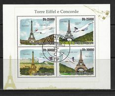 SAO TOME- SAINT THOMAS 2010 TOUR EIFFEL ET CONCORDE YVERT  N°3378/81  OBLITERE - Concorde