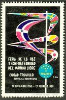 """Cd Trujillo Dominican Republik 1956 """" Feria De La Paz Y Confraternidad Del Mundo Libre"""" Vignette Cinderella Reklamemarke - Cinderellas"""