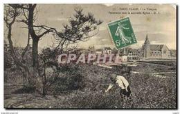 CPA Paris Plage Le Touquet Panomarama Vers La Nouvelle Eglise - Le Touquet