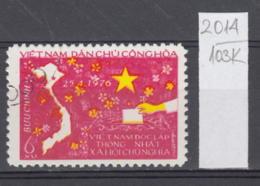 103K2014 / 1976 - Michel Nr. 851 Used ( O ) Map , National Assembly Elections , North Vietnam Viet Nam - Viêt-Nam