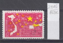 103K2015 / 1976 - Michel Nr. 851 Used ( O ) Map , National Assembly Elections , North Vietnam Viet Nam - Viêt-Nam