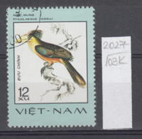 103K2027 / 1977 - Michel Nr. 899 Used ( O ) Anorrhinus Tickelli  - Rare Birds , Vietnam Viet Nam - Viêt-Nam