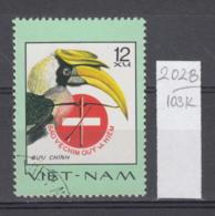 103K2028 / 1977 - Michel Nr. 898 Used ( O ) Great Hornbill (Buceros Bicornis)  - Rare Birds , Vietnam Viet Nam - Viêt-Nam