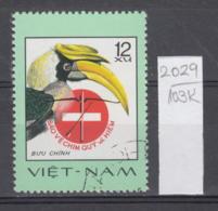 103K2029 / 1977 - Michel Nr. 898 Used ( O ) Great Hornbill (Buceros Bicornis)  - Rare Birds , Vietnam Viet Nam - Viêt-Nam