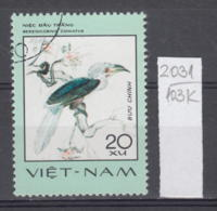 103K2031 / 1977 - Michel Nr. 900 Used ( O ) White-crowned Hornbill (Berenicornis Comatus)- Rare Birds , Vietnam Viet Nam - Viêt-Nam