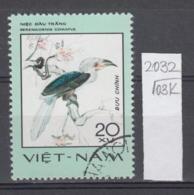 103K2032 / 1977 - Michel Nr. 900 Used ( O ) White-crowned Hornbill (Berenicornis Comatus)- Rare Birds , Vietnam Viet Nam - Viêt-Nam