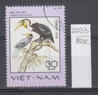 103K2033 / 1977 - Michel Nr. 901 Used ( O ) Wreathed Hornbill (Rhyticeros Undulatus) - Rare Birds , Vietnam Viet Nam - Viêt-Nam