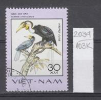 103K2034 / 1977 - Michel Nr. 901 Used ( O ) Wreathed Hornbill (Rhyticeros Undulatus) - Rare Birds , Vietnam Viet Nam - Viêt-Nam