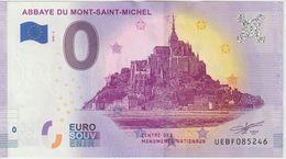 Billet Touristique 0 Euro Souvenir France 50 Abbaye Du Mont Saint Michel 2020-3 N°UEBF085246 - Essais Privés / Non-officiels