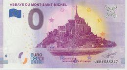 Billet Touristique 0 Euro Souvenir France 50 Abbaye Du Mont Saint Michel 2020-3 N°UEBF085247 - Private Proofs / Unofficial