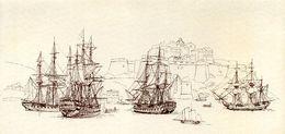 Prise De Calvi (Corse) Par Nelson 1794. Carte Pliée Utilisée. Thème Bateaux, Marine. Voir Images, Lire Annonce. Corsica - Vieux Papiers