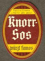 "Heilbronn Neckar 1920 Voor Nederlande "" Knorr Sos Würzt Famos "" Vignette Cinderella Reklamemarke - Cinderellas"