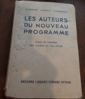 Les Auteurs Du Nouveau Programme - Classe De 5ème - Programme Du 23 Décembre 1941 - 1943 - 12-18 Ans