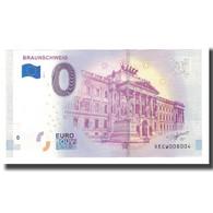 Allemagne, Billet Touristique - 0 Euro, Germany - Braunschweig - Château De - Deutschland