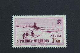 1939,ST-PIERRE-ET-MIQUELON Y&T NO 204 1F60  PHARE DE LA TORTUE LILAS-ROSE NEUF MH **... - Neufs
