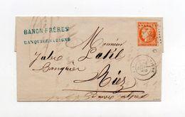 !!! N°48 SEUL SUR LETTRE DE DIGNE POUR RIEZ DE 1871 SIGNEE ROUMET. TIMBRE 1ER CHOIX - Postmark Collection (Covers)