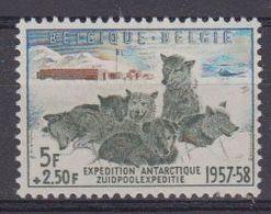 Belgie 1957 Belgische Zuidpoolexpeditie 1w ** Mnh (48383) - Neufs