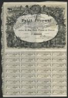 PETIT JOURNAL Action De 500 Fr Avec Une Très Belle Illustration. Action Avec 63 Coupons Dont 2 Consolidés. - Actions & Titres