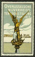 "Zwolle Nederlande 1913 "" Overijssel Sche Nijverheids Tentoonstelling "" Vignette Cinderella Reklamemarke - Cinderellas"