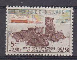 Belgie 1957 Belgische Zuidpoolexpeditie 1w ** Mnh (48383A) - Neufs
