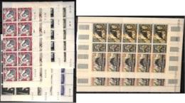 NN - D - [97743]SUP//**/Mnh-NN- N° 492/502, Apparitions De Lourdes, Série Complète En Bande De 10 (bas De Feuille), Coin - Monaco
