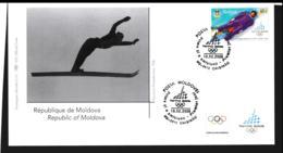 Moldova FDC 2006 Torino Olympic Games  (NB**LAR9-134B) - Winter 2006: Torino