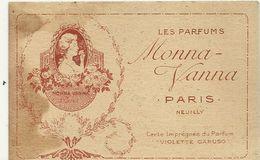 PARFUMS MONA VANNA . PARIS .VIOLETTE CARUSO - Cartas Perfumadas